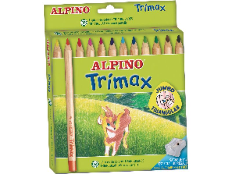 ALPINO - Estuche lapices Trimax Colores surtidos 12 ud 5,4 mm (Ref.AL000113)